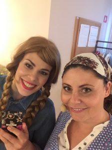 Anja Strajnar v muzikalu Alpska saga nastopa ob boku Ana Marije Mitič, ki je njena snaha.